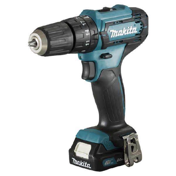 TALADRO BAT.LIT.MAKITA HP333D+DC18RE+BL1021B+BL1850BX2 12V 1BAT.2A